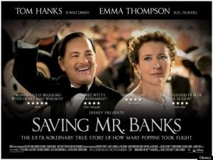 Saving Mr. Banks, Disney, Emma Thompson, Tom Hanks, P.L. Travers, Mary Poppins, author, storytelling, inspiration, movies with flashback