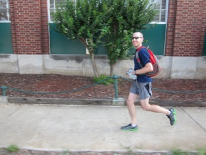 What's His Story: The Run Commuter Gets to Work on Foot