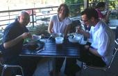 Atlanta, North Avenue, 4th and Swift, restaurant, waiters eating