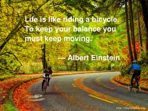 balance, maintaining balance in life, wellness, how to live a balanced life, einstein, quote