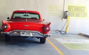 wordless wednesday, wordleswednesday, electric car charger, old and new cars