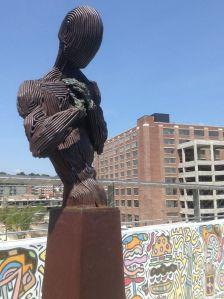 Atlanta BeltLine, public art, sculpture, overpass, North Avenue, Ponce City Market, Positive Challenge, civic improvements, Atlanta is getting better all the time, Nicole Brodeur