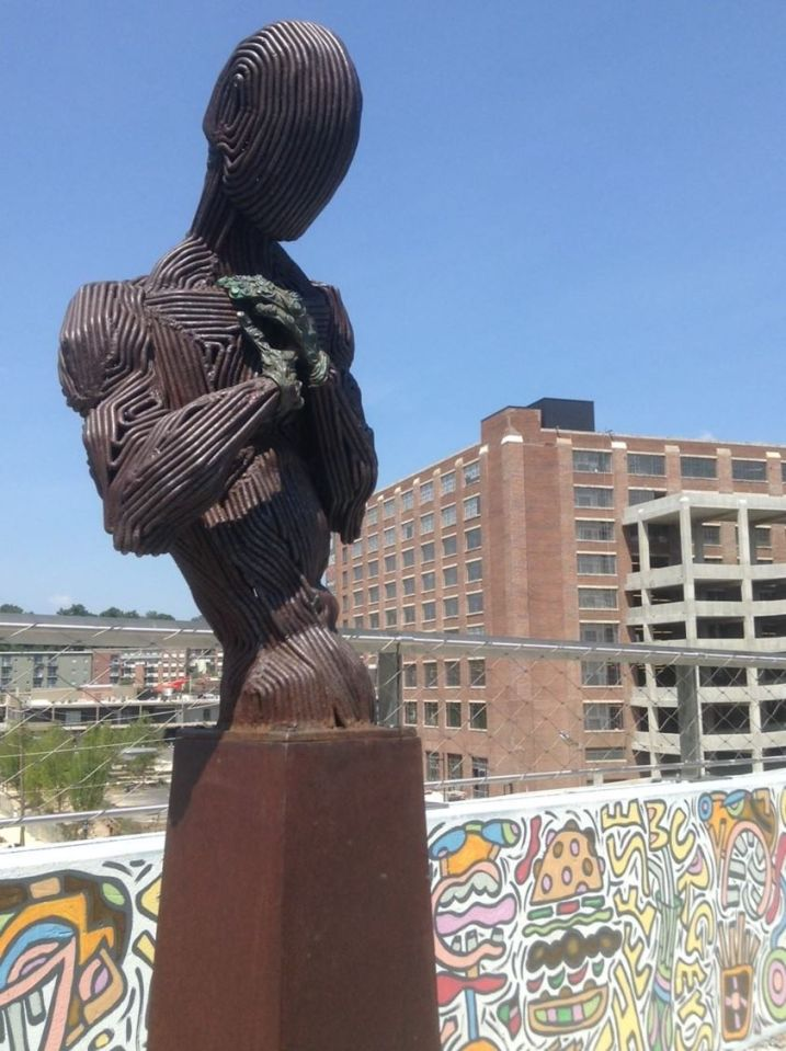 Atlanta BeltLine, public art, sculpture, overpass, North Avenue, Ponce City Market, Positive Challenge, civic improvements, Atlanta is getting better all the time, Nicole Brodeur