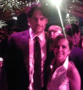 Joe Manganiello, Maria Elena Fernandez, True Blood, Emmy Awards, Emmys, LA Times, reporter, MSNBC