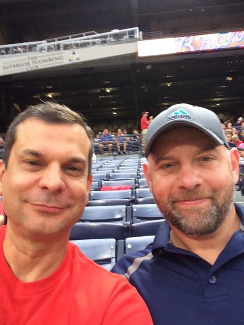 Atlanta Braves, positive challenge, Turner Field, Braves leaving Atlanta for Cobb, Jay Croft, storycroft, Byron Whitt, Atlanta, friends at a baseball game