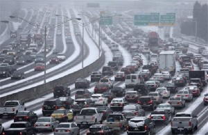 Atlanta, traffic, snowmaggedon, snowstorm, ice storm, I-285, I-75, I-85, the connector, Ga. 400