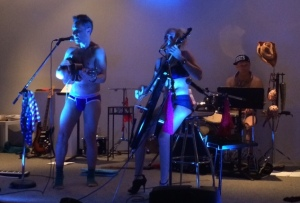 The Skivvies, Atlanta, Westside Cultural Arts Center, West Midtown, Chappuis, Fay Gold, art gallery, Actor's Express, Broadway Bares, musicians playing almost naked