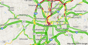 Atlanta, traffic, map