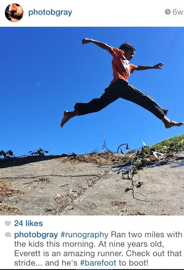 Ben Gray, photographer, journalist, photojournalist, running, AJC, atlanta, Journal-Constitution, Atlanta, iPhone, ultra-marathon, people who run crazy distance, kids jumping outside