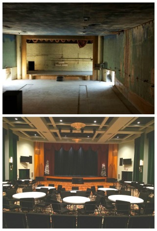 The auditorium in another before-and-after