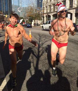 Atlanta, Santa Speedo Run, Midtown, Peachtree, Baton Bob, Everybody Wins, Children's literacy, literacy, charity event, gay, gay men,