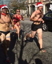 Atlanta, Santa Speedo Run, Baton Bob, Midtown, Peachtree, gay, gays raising money for charity, Everybody Wins, literacy