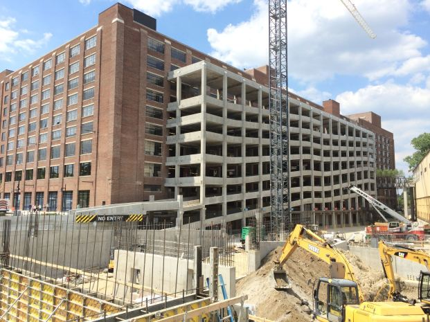 The parking deck and more work along North Avenue