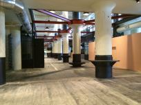 The main food court area is shaping up.