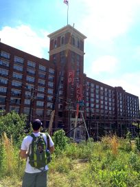 Ponce City Market rom the BeltLine on Sunday...
