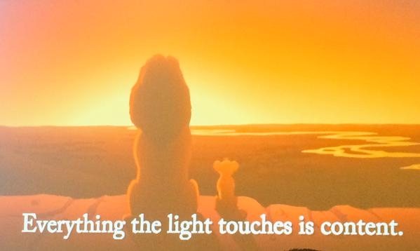Ann Handley, Content Rising, content marketing, Skyword, Tom Gerace, Robert McKee, storytelling, brand journalism, everything the light touches is content, The Lion King