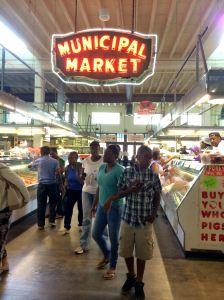 Atlanta Curb Market, Atlanta Municipal Market, Atlanta, Curb Market, Martin Luther King Historic District, Sweet Auburn, black history, African-American history, produce, meat, pork, Grindhouse Burgers